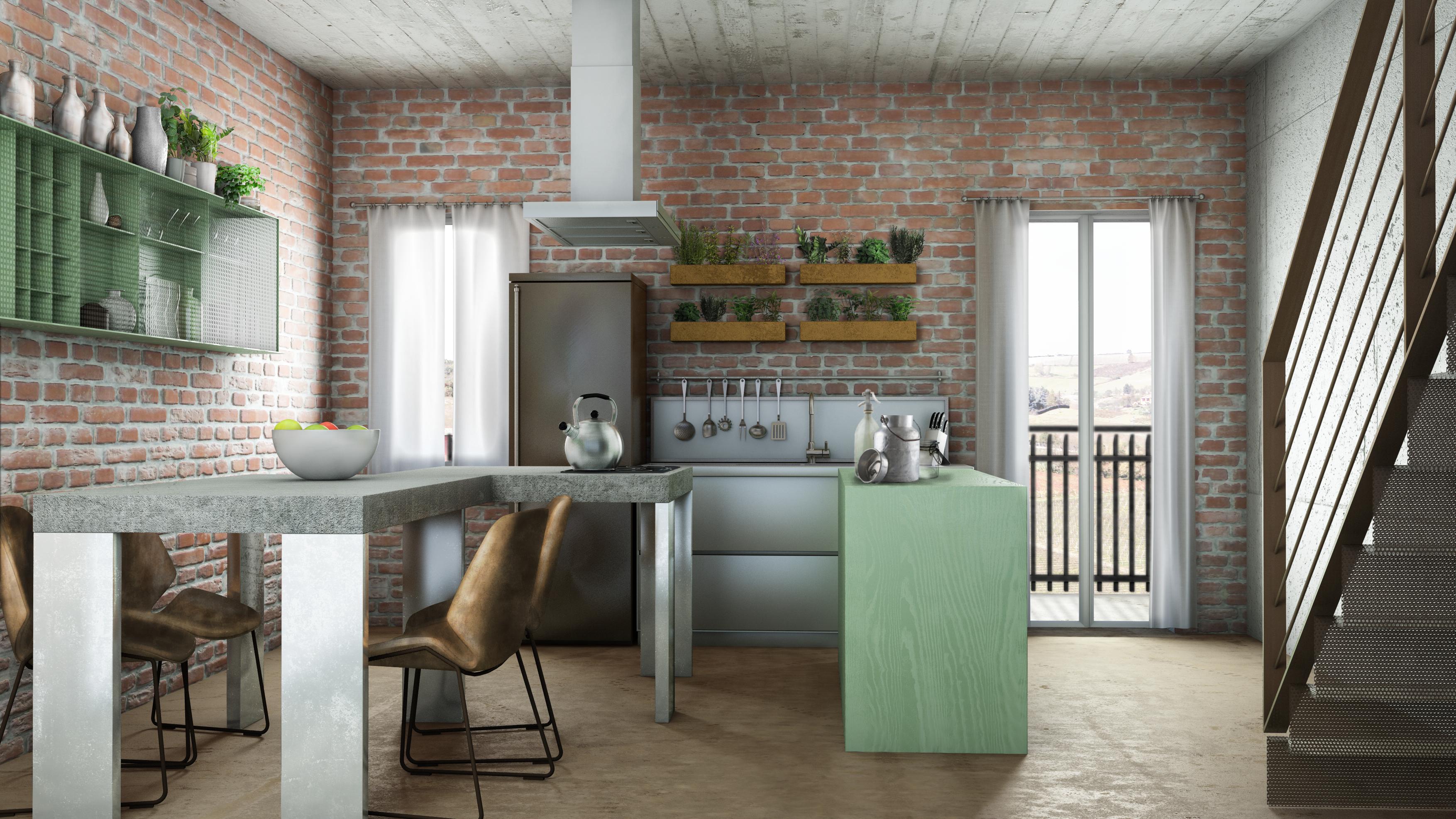 Best Progetto Cucina Soggiorno Contemporary - Home Ideas - tyger.us