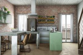 progetto cucina soggiorno